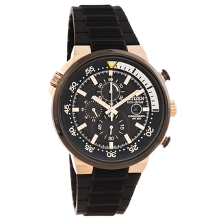 Citizen Men's 'Eco-Drive' Endeavor Black Chronograph Watch