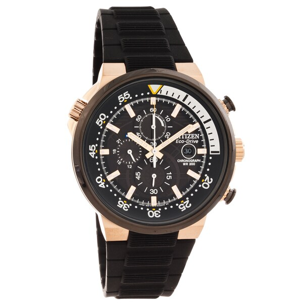 Citizen Men's 'Eco-Drive' Endeavor Black Chronograph Watch
