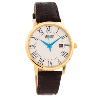 Citizen Men's 'Eco-Drive' Gold-tone Roman Numeral Watch