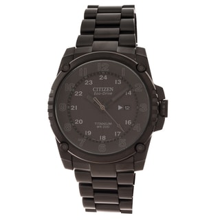 Citizen Men's 'Eco-Drive' Super Titanium Black Ion-plated Watch