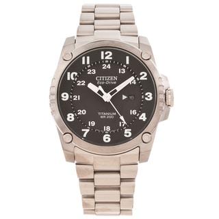 Citizen Men's 'Eco-Drive' Super Titanium Black Dial Watch