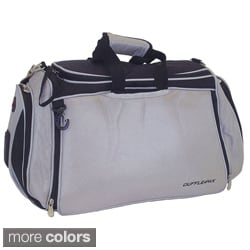 Duffle-Pak Silver/Black Duffle Bag-and-Backpack In One
