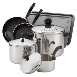 Farberware Stainless Steel 10-Piece Cook-and-Strain Set