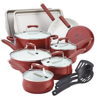 Paula Deen Savannah Collection Red 17-piece Aluminum Nonstick Set