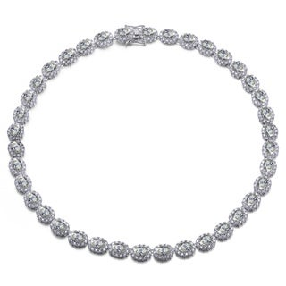 Collette Z Sterling Silver Cubic Zirconia Oval-shaped Necklace