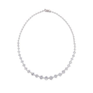 Collette Z Sterling Silver Cubic Zirconia Graduated Tennis Necklace
