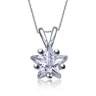 Collette Z Sterling Silver Star-shaped Cubic Zirconia Necklace