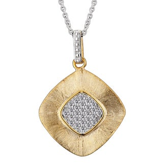 Collette Z Goldplated Sterling Silver Cubic Zirconia Square Drop Necklace