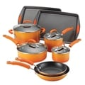 Rachael Ray Porcelain II Orange Gradient Nonstick 12-piece Set