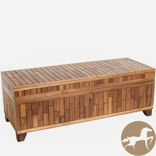Christopher Knight Home Luca Wood Storage Ottoman Bench