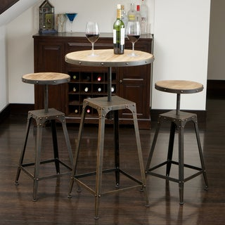 Christopher Knight Home Rutherford Weathered Wood 3-piece Bar Set