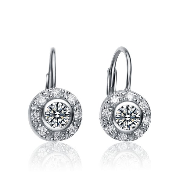 Collette Z Sterling-Silver Cubic Zirconia Round Stud Earrings
