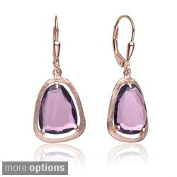 Collette Z Roseplated Sterling Silver Purple Pear Drop Earrings