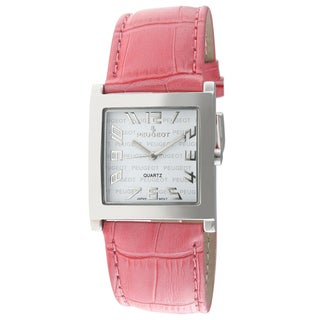 Peugeot Women's Pink Leather Strap Fashion Watch