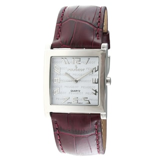 Peugeot Women's Purple Leather Strap Watch