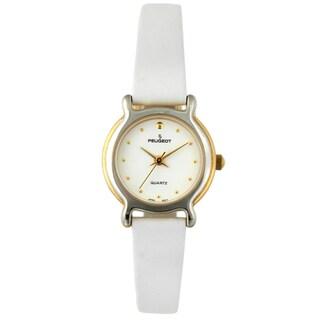 Peugeot Women's Vintage Two-tone White Strap Watch