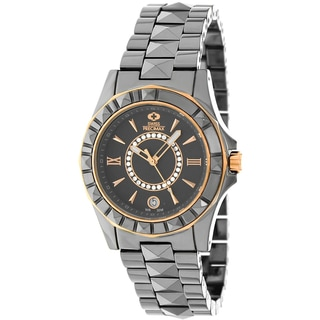 Swiss Precimax Women's 'Fiora' Grey Ceramic Swiss Quartz Watch