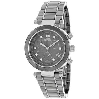 Swiss Precimax Women's 'Sophie Ceramic Elite' Grey Ceramic Swiss Chronograph Watch