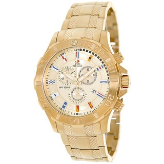 Swiss Precimax Men's 'Armada Pro' Goldtone Swiss Chronograph Watch