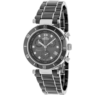 Swiss Precimax Women's Sophie Ceramic Elite Black Ceramic Mother of Pearl Dial Watch
