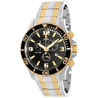 Swiss Precimax Men's 'Tarsis Pro' Goldtone/ Black Dial Swiss Chronograph Watch