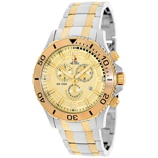 Swiss Precimax Men's 'Tarsis Pro' Gold Dial Swiss Chronograph Watch