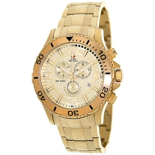 Swiss Precimax Men's 'Tarsis Pro' Goldtone Swiss Chronograph Watch