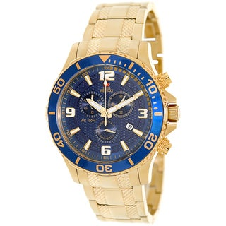 Swiss Precimax Men's 'Tarsis Pro' Goldtone/ Blue Dial Swiss Chronograph Watch