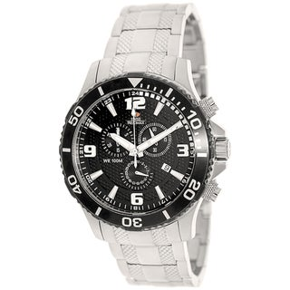 Swiss Precimax Men's 'Tarsis Pro' Silver/ Black Swiss Chronograph Watch