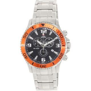 Swiss Precimax Men's 'Tarsis Pro' Orange Bezel Swiss Chronograph Watch