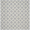 Safavieh Handmade Moroccan Cambridge Silver Wool Area Rug (6' Square)