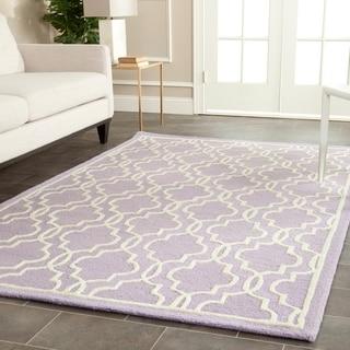 Safavieh Handmade Cambridge Moroccan Lavander Wool Area Rug (6' x 9')