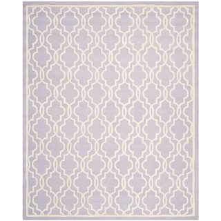 Safavieh Handmade Cambridge Moroccan Lavender Wool Area Rug (9' x 12')