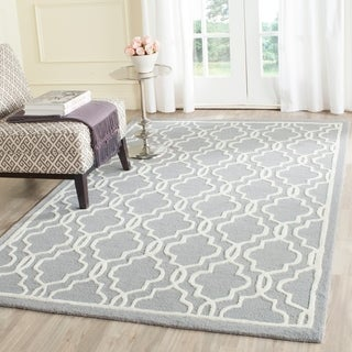 Safavieh Hand-tufted Moroccan Cambridge Silver Traditional Wool Rug (6' x 9')