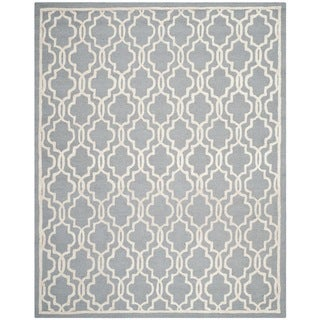 Safavieh Handmade Cambridge Moroccan Silver Cotton-Canvas Wool Rug (8' x 10')
