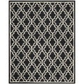 Geometric Safavieh Handmade Cambridge Moroccan Black Wool Rug (8' x 10')
