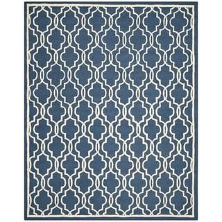 Safavieh Handmade Moroccan Cambridge Navy Wool Rug (9' x 12')