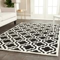 Contemporary Safavieh Handmade Cambridge Moroccan Black Wool Rug (8' x 10')