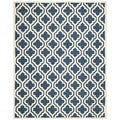 Safavieh Handmade Cambridge Moroccan Geometric Pattern Navy Wool Rug (6' x 9')