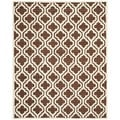Safavieh Handmade Tufted Cambridge Moroccan Dark Brown Wool Rug (6' x 9')