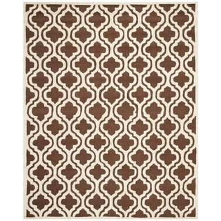 Modern Safavieh Handmade Cambridge Moroccan Dark Brown Wool Rug (8' x 10')