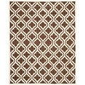 Modern Safavieh Handmade Cambridge Moroccan Dark Brown Wool Rug (9' x 12')