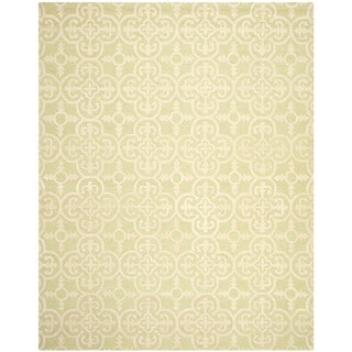 Safavieh Handmade Cambridge Moroccan Light Green Wool Rug with High/Low Construction (8' x 10')