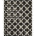 Casual Safavieh Handmade Cambridge Moroccan Black Wool Rug (8' x 10')
