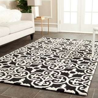 Safavieh Handmade Cambridge Moroccan Casual Black Wool Rug (9' x 12')