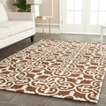 Safavieh Handmade Cambridge Moroccan Dark Brown Wool Rug with Canvas Backing (6' x 9')