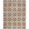 Safavieh Handmade Cambridge Moroccan Dark Brown Geometric Wool Rug (8' x 10')