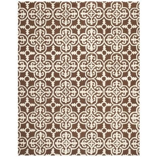 Safavieh Handmade Cambridge Moroccan Dark Brown Wool Area Rug (9' x 12')