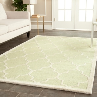 Safavieh Durable Handmade Cambridge Moroccan Light Green Wool Rug (9' x 12')