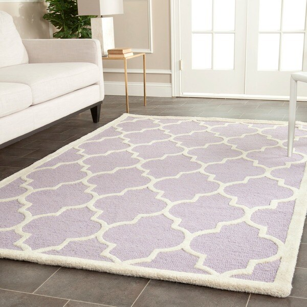 Safavieh Handmade Cambridge Moroccan Lavender Oriental Wool Rug (9' x 12')